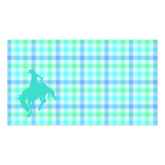 Plaid Turquoise Cowboy Pack Of Standard Business Cards