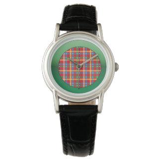 Plaid with Illuminate Green Watch
