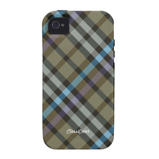 Plaid Yellow Blue Case Mate iPhone 4/4S Covers