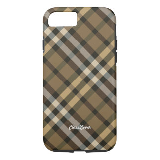 Plaid Yellow Brown iPhone 7 Case