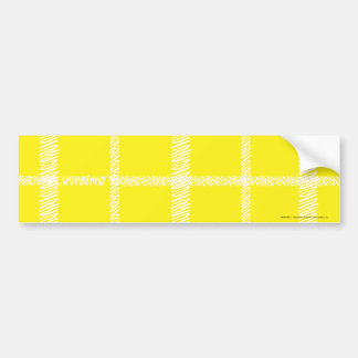 Plaid Yellow Bumper Sticker