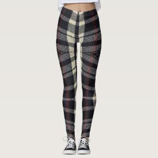 Plaided Fabric Texture Leggings