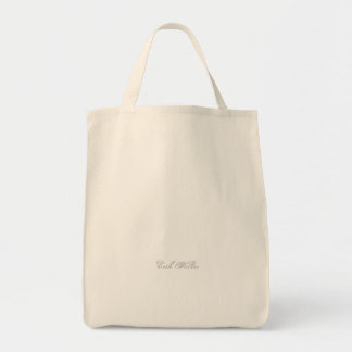 Plain 3d Monogram Name Text Grocery Tote Bag
