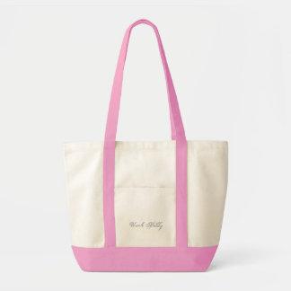 Plain 3d Monogram Name Text Impulse Tote Bag