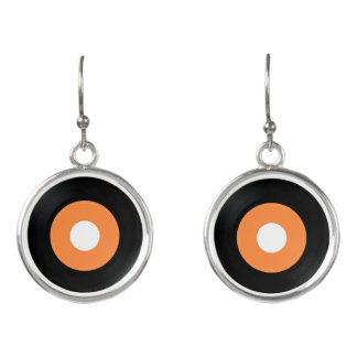 Plain 45rpm record earrings