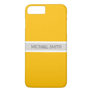 Plain Amber Background Modern Elegant Name iPhone 8 Plus/7 Plus Case