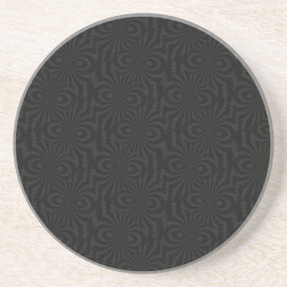 Plain and Simple Black Twisted Velvet Pattern Drink Coaster