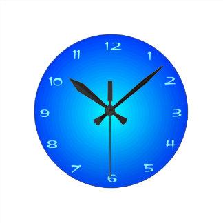 Plain Aqua Blue Illuminated Kitchen Clocks