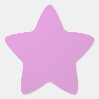 Plain Artistic Pink Purple : Add text or image Star Sticker