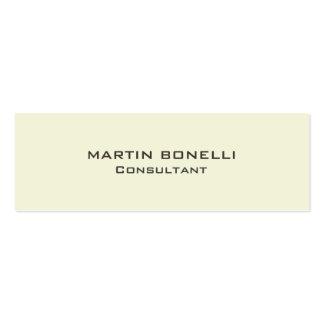 Plain Beige Color Skinny Size Business Card