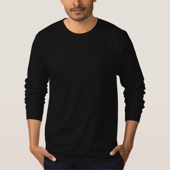 Plain Black American Apparel Fine Jersey LS MT T-Shirt
