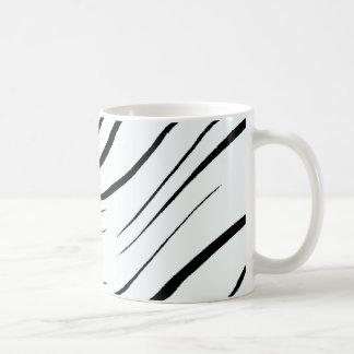 Plain Black And White Basic White Mug
