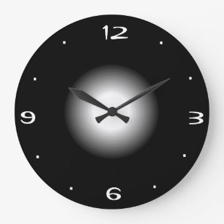 Plain Black and White >Kitchen Clock