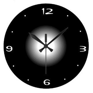 Plain Black and White Kitchen Clock