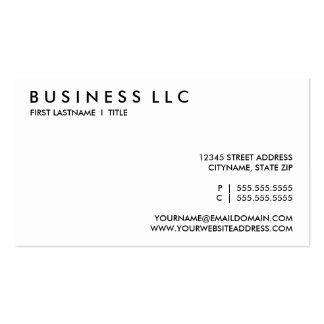 plain black and white pack of standard business cards