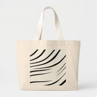 Plain Black And White Tote Bag
