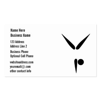 Plain Black and White Tumbler Gymnast Gymnastics Pack Of Standard Business Cards