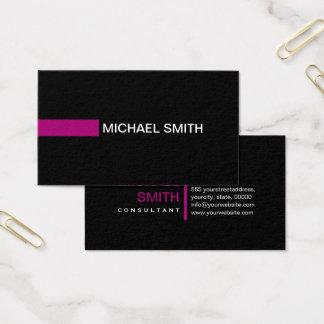 Plain Black Elegant Modern Flirt Business Card