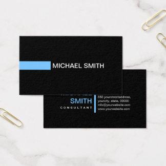 Plain Black Elegant Modern Maya Blue Business Card