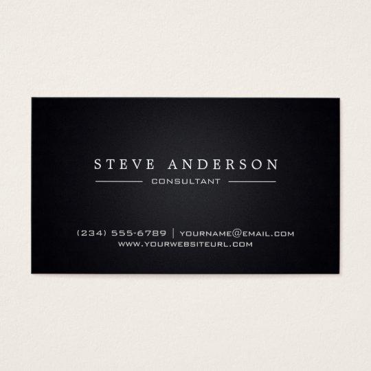 Plain Black Professional Modern Style Business Card