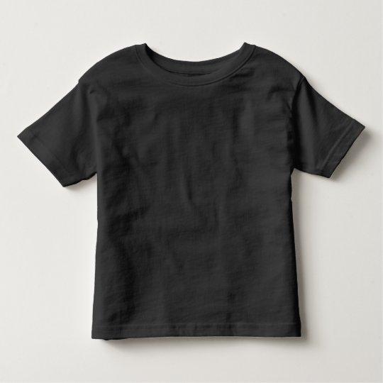 Plain Black Toddler Fine Jersey T-Shirt