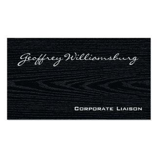 Plain Black Wood Professional Business Cards