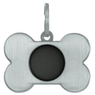 Plain Blank Black Grey DIY add quote text photo Pet Name Tags