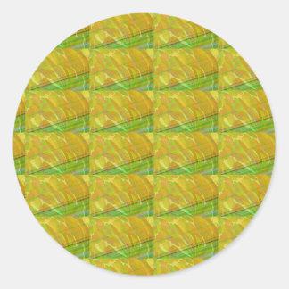 Plain Blank Template DIY Chakra Golden add TXT IMG Sticker