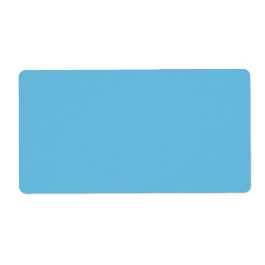 Plain blue background blank custom label shipping label