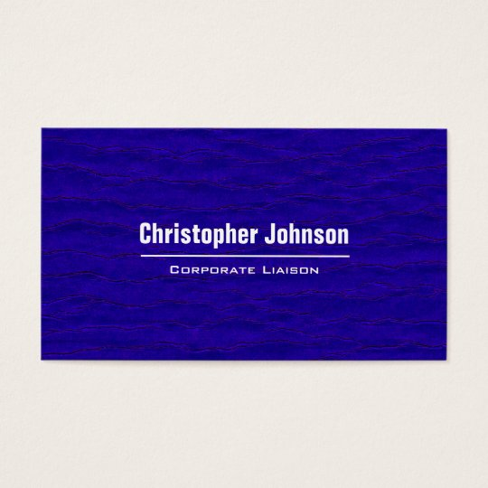 Plain Blue Modern Professional Business Cards