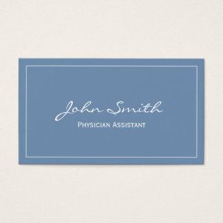 Plain Blue Physician Assistant Business Card