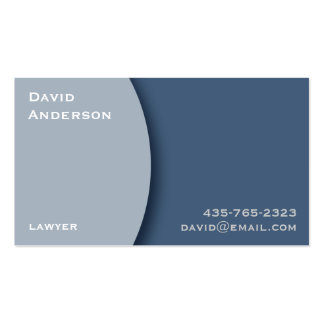 Plain Blue Professional Business Card