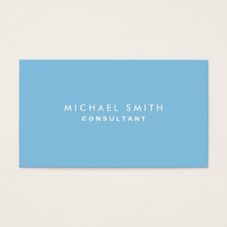 Plain Blue Professional Elegant Modern Simple Business Card
