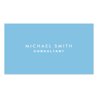 Plain Blue Professional Elegant Modern Simple Pack Of Standard Business Cards