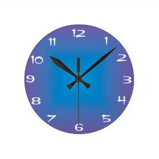 Plain Blue/Purple >Colored Kitchen Clock