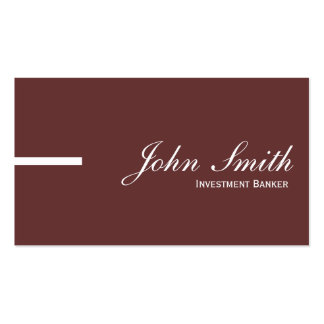 Plain Brown Investment Banker Business Card