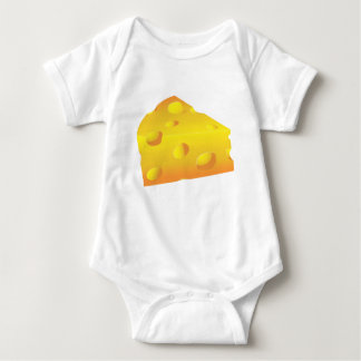 Plain Cheese: ADD YOUR OWN TEXT Baby Bodysuit