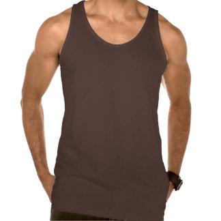 Plain chocolate brown jersey tank top for men