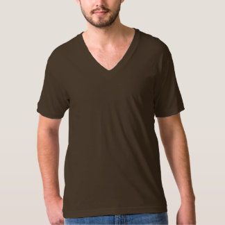 Plain chocolate brown jersey v-neck t-shirt men