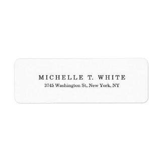 Plain Classical Black White Minimalist