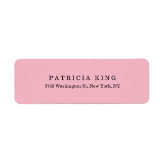 Plain Classical Pale Pink Minimalist Professional