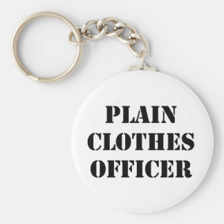 Plain Clothes Officer Key Chains