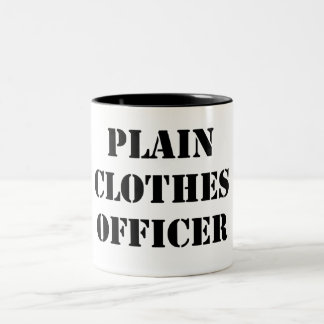 Plain Clothes Officer Two-Tone Coffee Mug