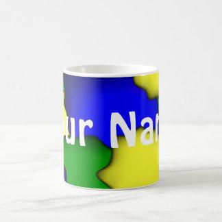 Plain colourful Mug with name