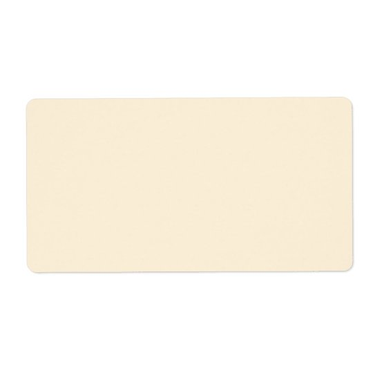 Plain cream or ivory background blank custom label shipping label