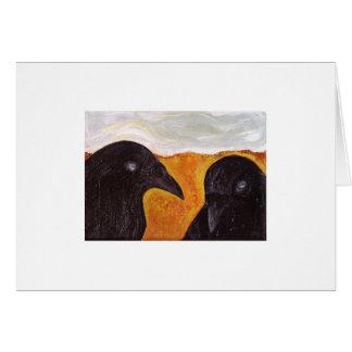 Plain Crows Card