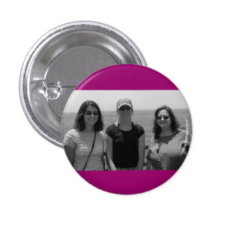 Plain Dark Fuschia Pink Photo frame 3 Cm Round Badge