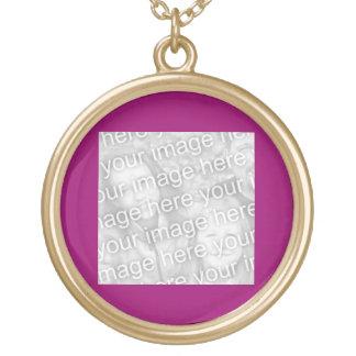 Plain Dark Fuschia Pink Photo frame Pendant