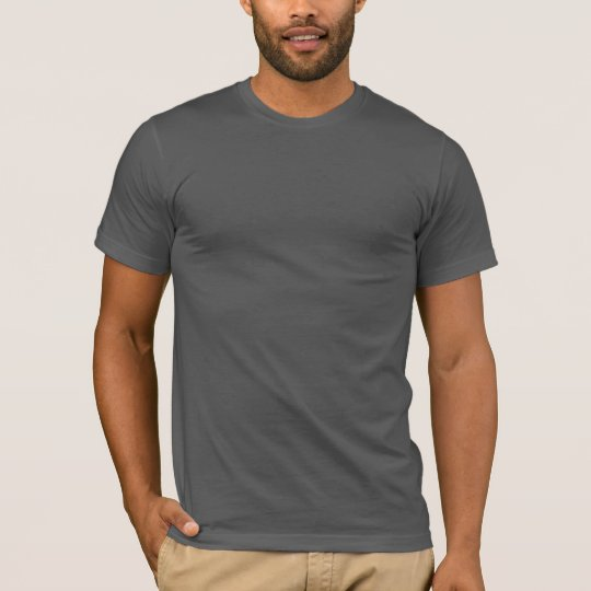 Plain dark grey fitted crew neck t-shirt for