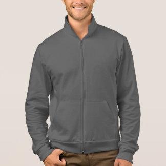 Plain dark grey zip fleece jogger for men jacket